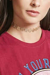 Forever 21 Ornate Medallion Choker Gold