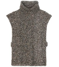 Etoile Isabel Marant Haway Wool Cotton And Silk Blend Turtleneck Sweater Multicoloured