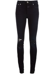 Closed Ripped Skinny Jeans Black