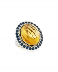 Lagos Citrine And Blue Sapphire Statement Ring Multi