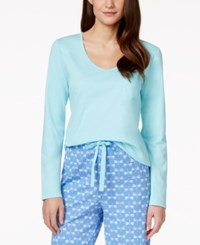 Charter Club Long Sleeve V Neck Pajama Top Only At Macy's