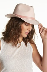 Phenix Short Brim Wool Fedora Pink