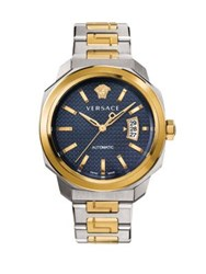 Versace Dylos Automatic Two Toned Stainless Steel Linked Bracelet Watch