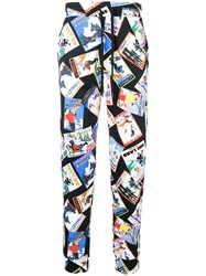 Love Moschino Printed Track Trousers Black