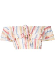Suboo Playhouse Ruffled Crop Top Multicolour