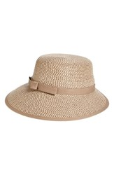 Eric Javits Women's Squishee Straw Cap Brown Bark Brown