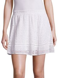 Joie Willems Cotton Voile Eyelet Skirt Porcelain