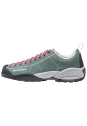Scarpa Mojito Hiking Shoes Lichen Green Spice Red Dark Green