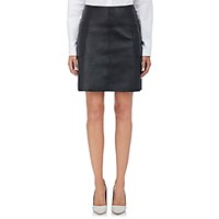 Barneys New York Women's Leather A Line Skirt Black Blue Black Blue