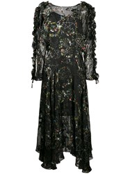 Preen By Thornton Bregazzi Ermin Star And Floral Print Dress Black