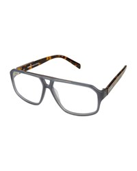 Balmain Two Tone Plastic Optical Frames Dark Gray