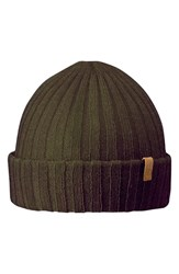 Fjall Raven Men's Fjallraven Cuffed Beanie Green Dark Olive