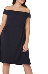 Dorothy Perkins Plus Size Women's Bardot Fit And Flare Dress Navy