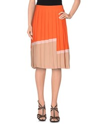 Just In Case Skirts Knee Length Skirts Women Orange