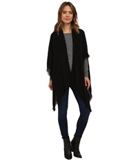 Echo Feather Weight Ruana Black Women's Sweater