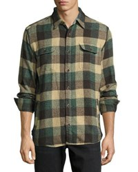 Faherty Durango Check Cpo Jacket Green Multi