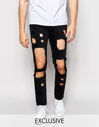Brooklyn Supply Co. Brooklyn Supply Co Skinny Jeans Cut Out Washed Black Washed Black