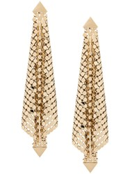 Paco Rabanne Chainmail Drop Earrings Gold