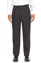 Linea Naturale Men's Washable Pleated Micro Twill Trousers
