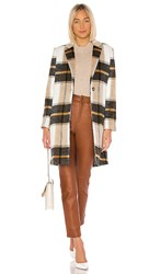 Cupcakes And Cashmere Cher Check Blazer Coat In Brown. Ivory