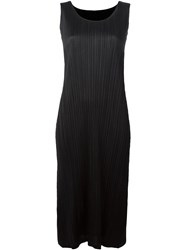 Issey Miyake Pleats Please By Pleated Dress Black