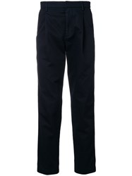 Closed Side Stripe Regular Fit Trousers Blue