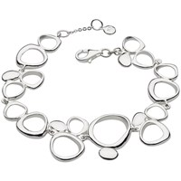 Kit Heath Sterling Silver Abstract Circle Bracelet Silver