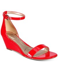 Bandolino Omira Wedge Sandals Women's Shoes Red