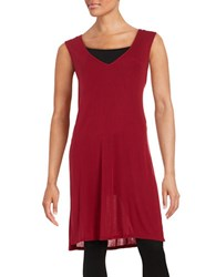 Highline Collective Side Slit Tunic Red