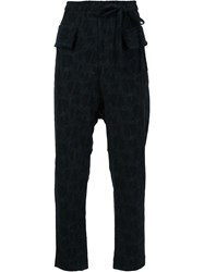 Damir Doma Elasticated Waistband Slim Fit Trousers Blue