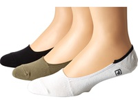 Sperry Skimmers Solid 3 Pack Taupe Black Men's Crew Cut Socks Shoes