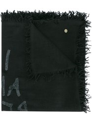 Ann Demeulemeester I Am Red With Love Scarf Black