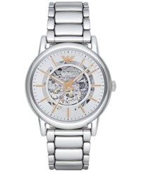 Emporio Armani Men's Automatic Luigi Stainless Steel Bracelet Watch 43Mm Ar1980 No Color