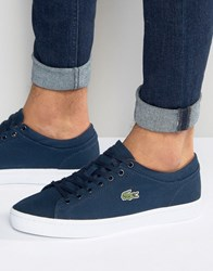Lacoste Straightset Canvas Trainers Navy Blue
