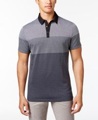 Alfani Ombre Grid Polo Shirt Only At Macy's Deep Black