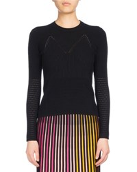 Kenzo Crew Neck Fitted Sweater Black