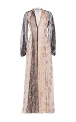 Luisa Beccaria Printed Chiffon Chemisier Dress