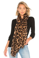 Hat Attack Leopard Scarf Brown