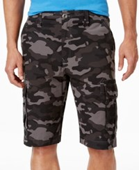 Ocean Current Men's Peached Cargo Shorts Gunmetal Camo