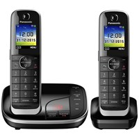 Panasonic Kx Tgj322eb Digital Cordless Phone With Nuisance Call Control And Answering Machine Twin Dect