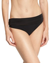 Heidi Klein Body Ruched Fold Over Bottom Black