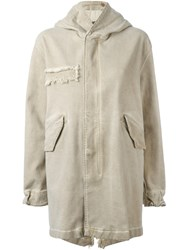 Mr And Mrs Italy Hooded Military Coat Nude Neutrals