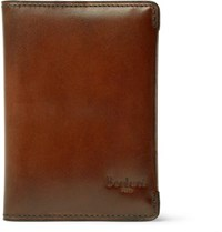 Berluti Ideal Polished Leather Wallet Tan