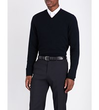 Armani Collezioni V Neck Knitted Jumper Black