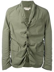 Marni Rouched Blazer Green