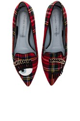 Chiara Ferragni Piercing Flirting Pointed Toe Flat Red