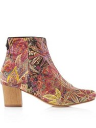 Hudson Garnet Liberty Spring Ankle Boots Multi