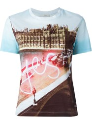 Paul By Paul Smith Digital Print T Shirt Blue