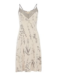 Linea Botanical Illustration Jersey Chemise Oatmeal Marl