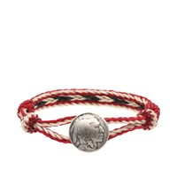 Chamula Indian Concho Bracelet Red